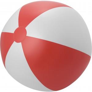Strandlabda, piros/fehér